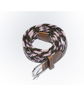 Pink-Black women's belt