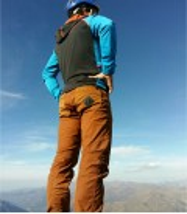 Garbi men's terracotta climbing and trekking trousers