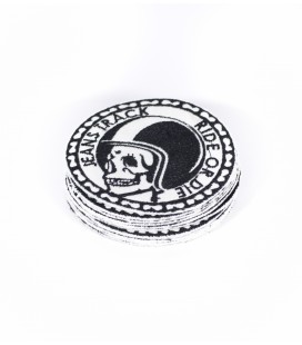 Skull White MTB patch