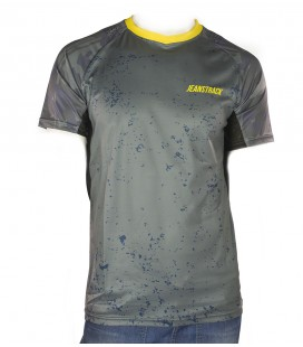 T-shirt technique de montagne Camo Gris MC