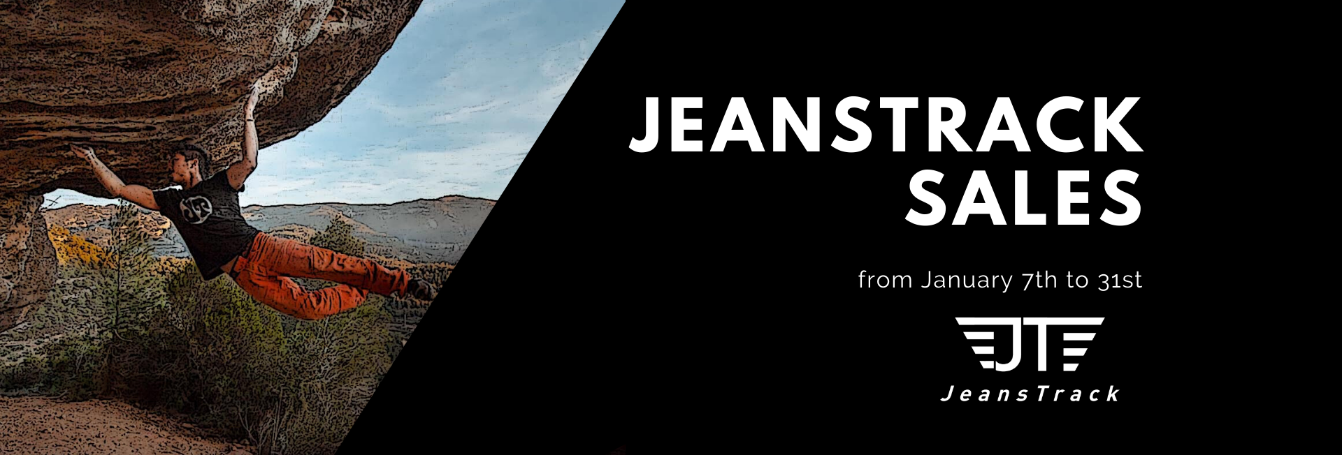 Sales JeansTrack. Offers in pants and T-shirts of MTB, Rough, Trekking, Mountain, Hiking, Trail Running, Urban Cycling and Climbing